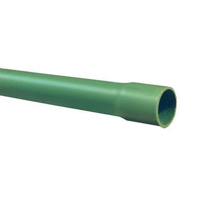 Imagen de TUBO DE PVC CONDUIT VERDE PESADO 38MM 1 1/2 TRAMO DE 3M ARGOS TPP0383