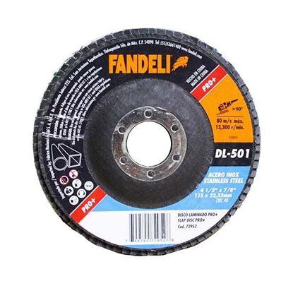 """Imagen de DISCO LAMINADO Z-40 INOX 4 1/2"""" 115  X 22.2  FANDELI 72952"""