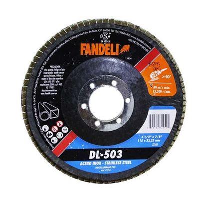 """Imagen de DISCO LAMINADO Z-80 INOX 4 1/2"""" 115  X 22.2  FANDELI 72954"""